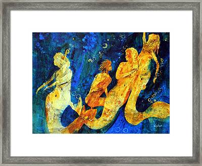 He's Not One Of Us Framed Print by Tom Poole