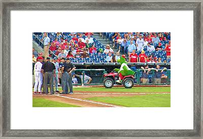 He's On The Run Framed Print by Alice Gipson