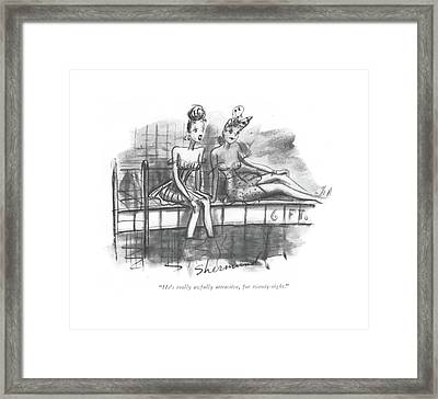 He's Really Awfully Attractive Framed Print by Barbara Shermund