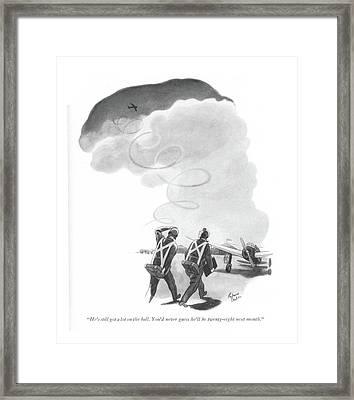 He's Still Got A Lot On The Ball. You'd Framed Print by Richard Decker