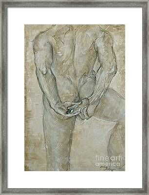 Framed Print featuring the painting He's The One  by Delona Seserman