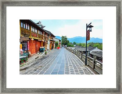 Heshun Old Town 1 Framed Print by Lanjee Chee
