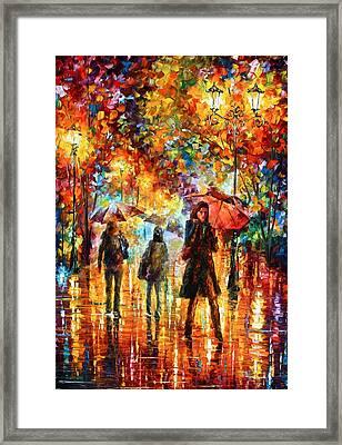 Hesitation Of The Rain Framed Print by Leonid Afremov
