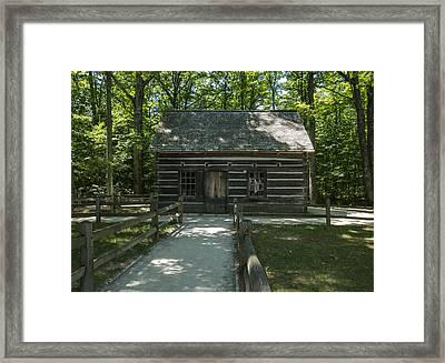 Hesler Log House #2 Framed Print by Paul Cannon