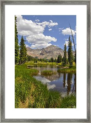 Hesperus Mountain Reflection Framed Print