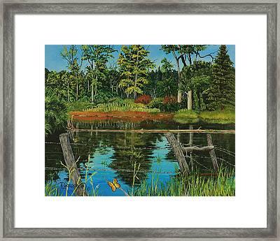 Hesperus Pond Framed Print