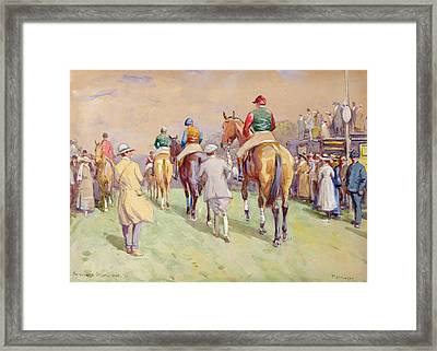 Hethersett Steeplechases Framed Print by John Atkinson