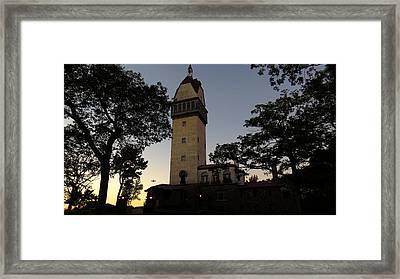 Heublein Tower Sunset Framed Print by Stephen Melcher