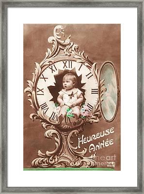 Heureuse Annee Vintage Baby Framed Print