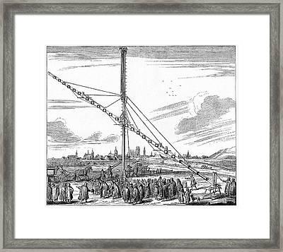 Hevelius' 150-foot Telescope Framed Print