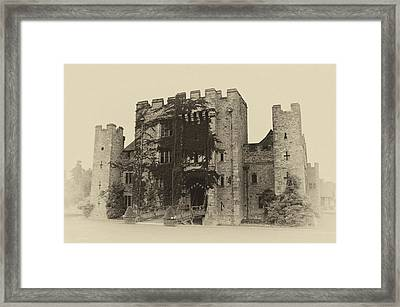 Hever Castle Yellow Plate Framed Print by Chris Thaxter