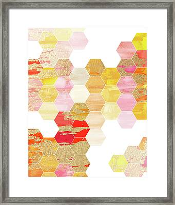 Hex Colored Framed Print by Amy Cummings