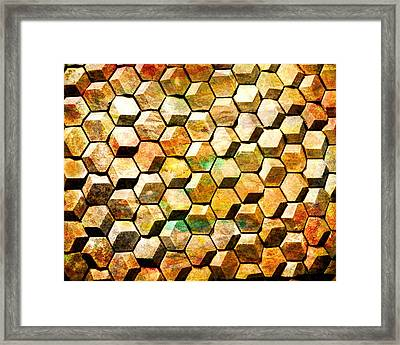 Hexacubes Framed Print