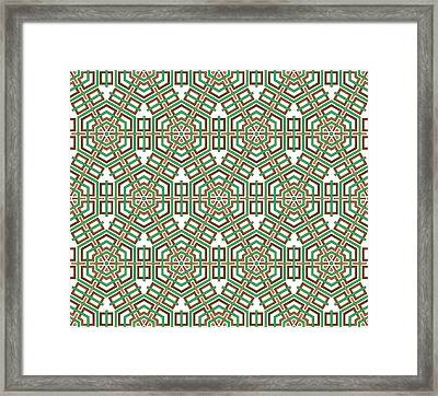 Hexagon And Square Pattern Framed Print by Jozef Jankola