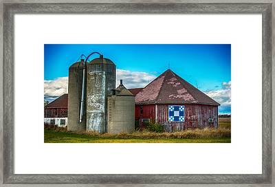 Hexagon Quilt Barn Framed Print by Paul Freidlund