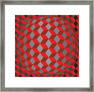 Hexagonaa14 Framed Print by Robert Van Es
