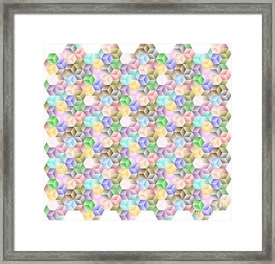 Hexagonal Cubes Framed Print
