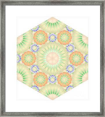 Hexagonal Tile Abas140 Framed Print