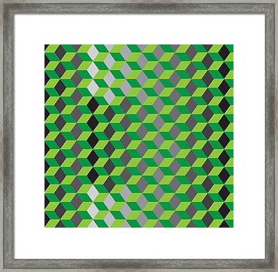 Hexagone14a Framed Print by Robert Van Es