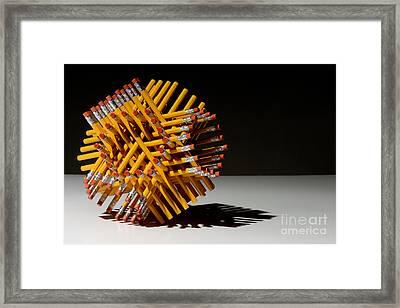 Hexastix Framed Print