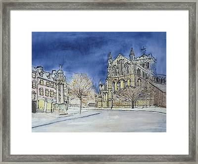 Hexham Abbey England Framed Print