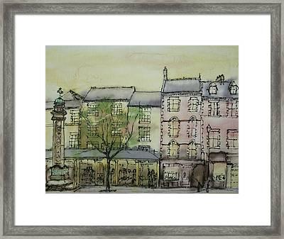 Hexham Market Place Northumberland  England Framed Print