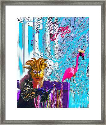 Hey Baby Toss Me Some Pink Framed Print by Lizi Beard-Ward