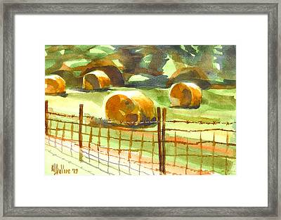 Hey Bales In The Afternoon Framed Print by Kip DeVore