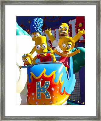 Hey Bart Framed Print by Brendan Quinn