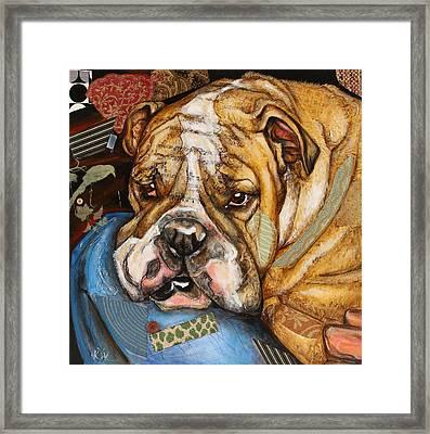 Hey Bulldog Framed Print
