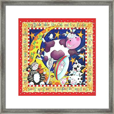 Hey Diddle Diddle Framed Print by P.s. Art Studios