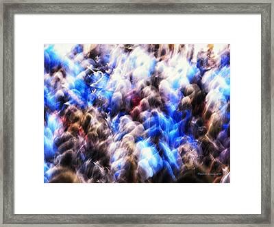 Hey Hey Chicago Cub Fans Framed Print by Thomas Woolworth