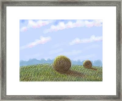 Hey I See Hay Framed Print by Stacy C Bottoms