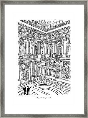 Hey, Look! A Congressman! Framed Print by Mischa Richter