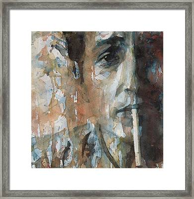 Hey Mr Tambourine Man Framed Print