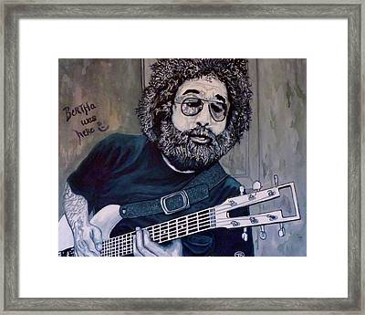 Hey Now - Blue Jerry Framed Print by Tom Roderick
