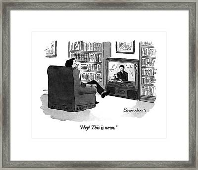 Hey! This Is News Framed Print by Danny Shanahan