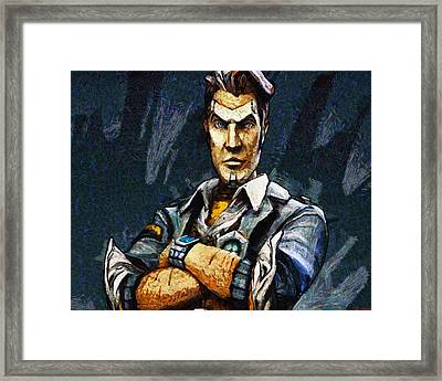 Hey Vault Hunter Handsome Jack Here Framed Print by Joe Misrasi