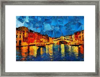 Hey Venice Framed Print