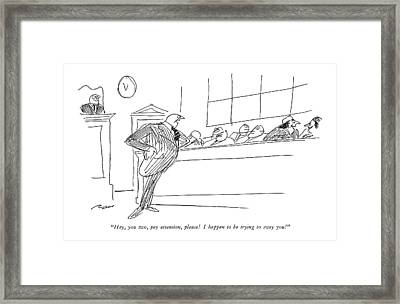 Hey, You Two, Pay Attention, Please!  I Happen Framed Print by Al Ross