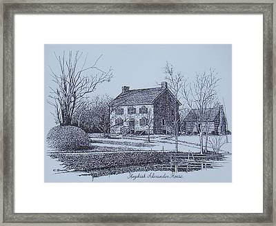 Hezekiah Alexander House Etching Framed Print by Charles Roy Smith