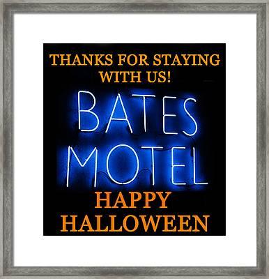 Hh Bates Motel Framed Print