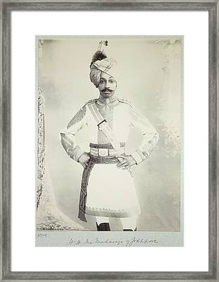 Hh The Maharaja Of Jodhpore Framed Print by British Library