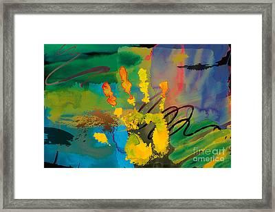 Hi 5 Framed Print by Bedros Awak