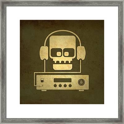 Hi Fi Skull Framed Print by Milton Thompson