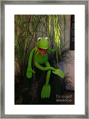 Hi Ho  Kermit The Frog Here  Framed Print by Jim McCain