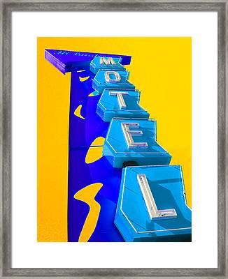Hi-lander Motel Framed Print by Gail Lawnicki