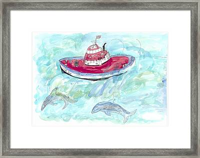 Framed Print featuring the painting Hi Tide by Helen Holden-Gladsky