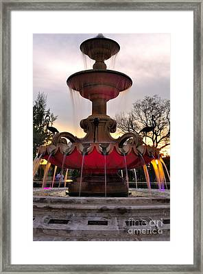 Hialeah Fountain Framed Print by Andres LaBrada