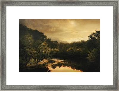 Hiawassee River At Dawn Framed Print by William Schmid